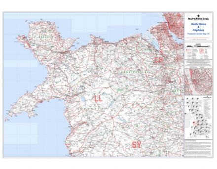 Postcode Sector Map 16 North Wales and Anglesey